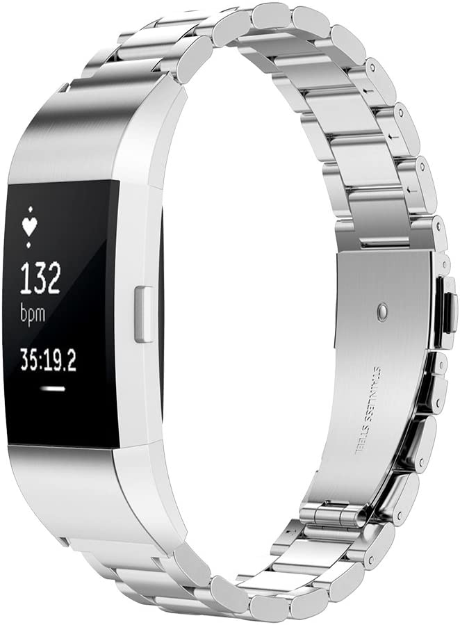 Simpeak Correa Compatible para Fitbit Charge 2 (5.5-8.1 Pulgadas)