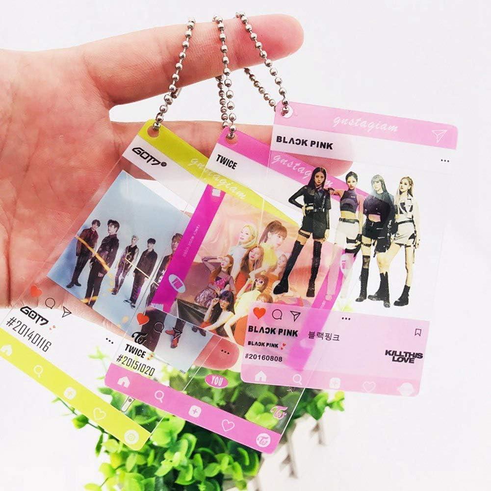 Gifts for Army Daughter GOTH Perhk 5PCS//Set Kpop BTS Bangtan Boys Blackpink Twice GOT7 TXT Seventeen Transparent Photo Cards Ins Photocards BTS