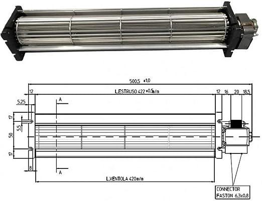 Emmevi Fergas 138551 - Ventilador tangencial para estufa de ...