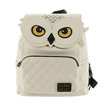 Amazon.com  Loungefly Harry Potter Hedwig Faux Leather Mini Backpack ... fca073909df32