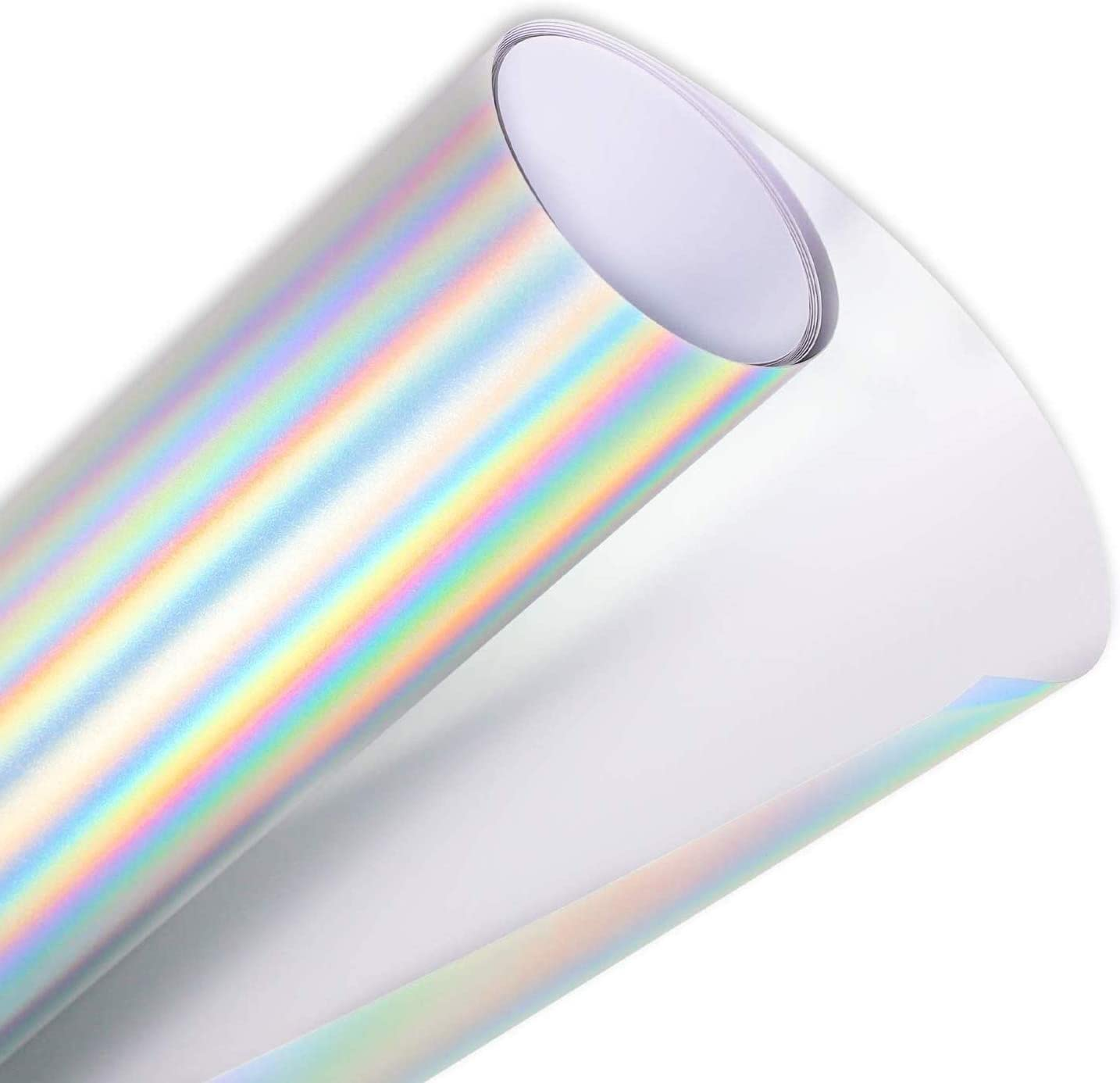 JH BEST CRAFTS Holographic Silver Chrome Adhesive Vinyl for Home Decor, Wall Decal, Windows, Signs, Logo, Car Exterior (12
