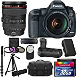 Canon EOS 5D Mark III 22.3 MP Full Frame CMOS Digital SLR Camera Bundle with Lens, Stand and Accessories (12 Items)