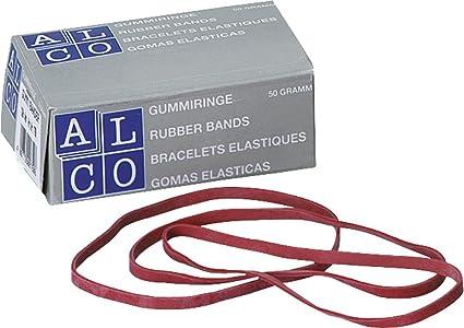100mm breit 5mm lang Inhalt 50 rot Gummib/änder