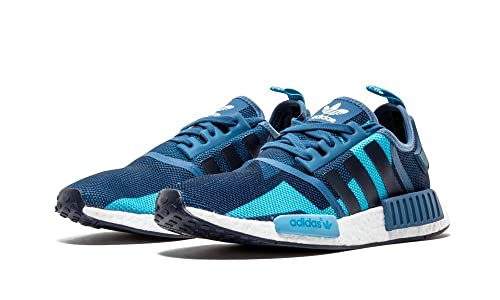 adidas Originals NMD_R1 Womens Trainers Sneakers Shoes (UK 7 US 8.5 EU 40 23, Blanch Blue S75722)