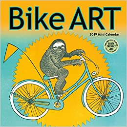bike art 2019 mini wall calendar in celebration of the bicycle