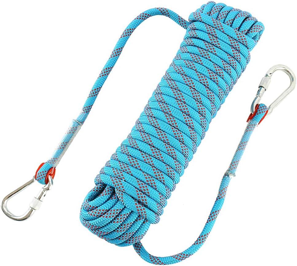 Kletterseil Sicherheitsseil mit 2 haken Bergsteigen Seil Bergseil 2M