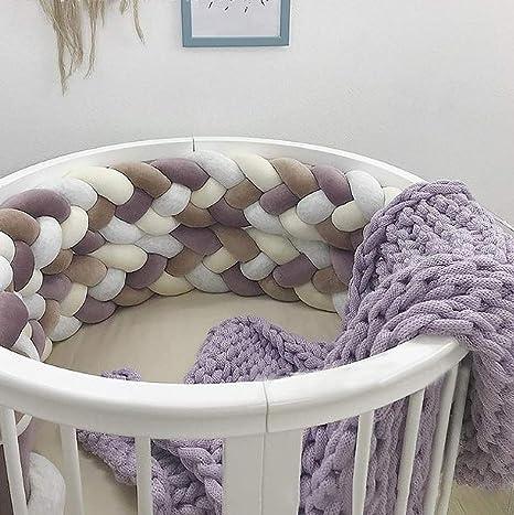Baby Nestchen 4 Weben Kinderbett Sto/ßstange Weben Bettumrandung Kantenschutz Kopfschutz 220cm//360cm Blau,220cm Trayosin Bettumrandung