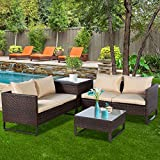 TANGKULA Patio Furniture Set 4 Piece, Outdoor