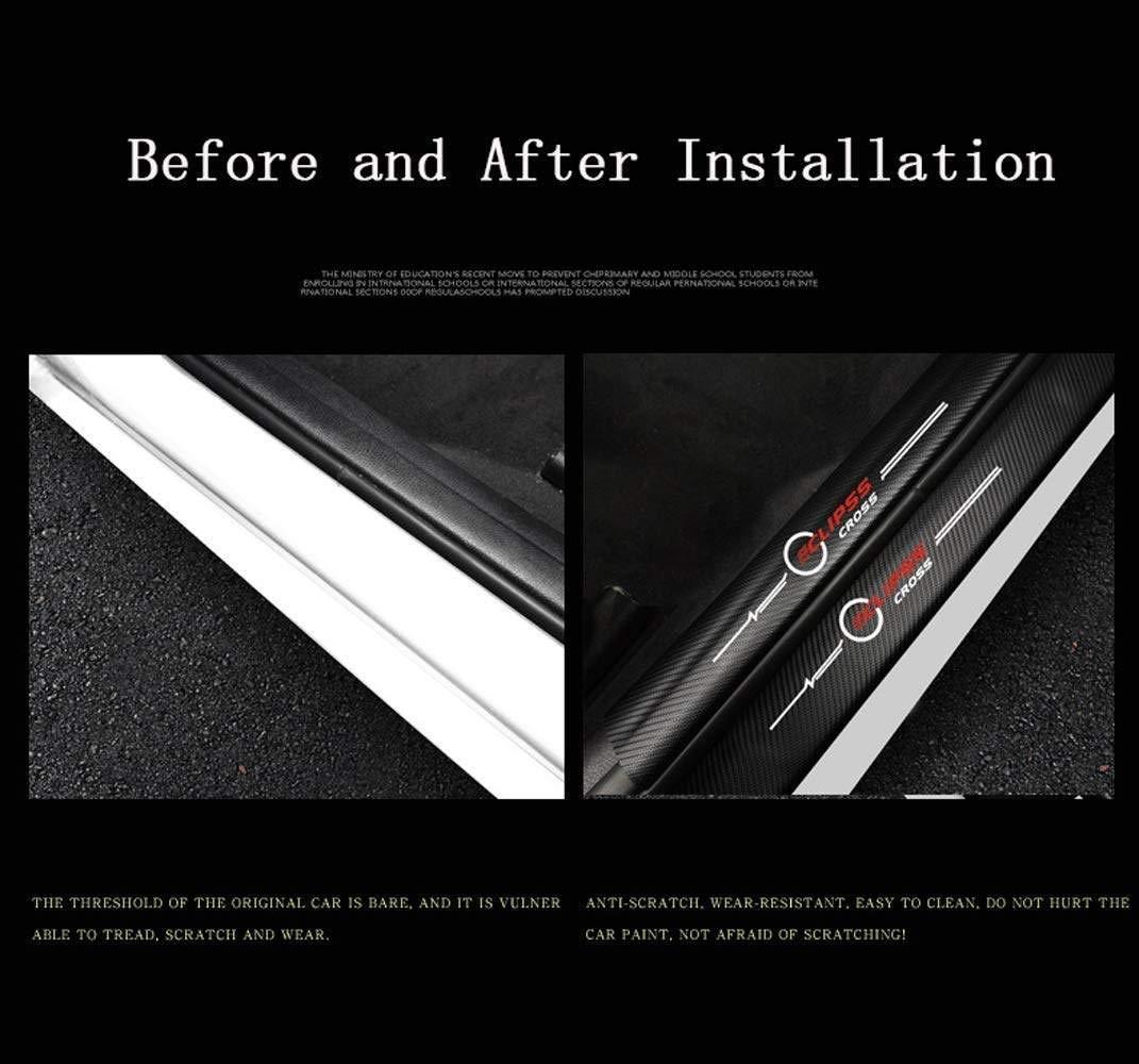 LDXCT 8Pcs Carbon Fiber Car Door Threshold Pedal Sticker Cover Scuff Plate Bumper Protector Film For Mitsubishi Eclipse Cross