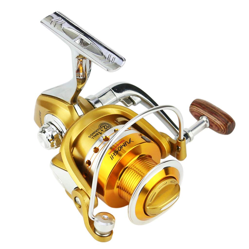 SMyFone Ball Bearings 5.5:1 Fishing Spinning Reels Saltwater Freshwater Speed Gear for YUMOSHI BE1000-7000