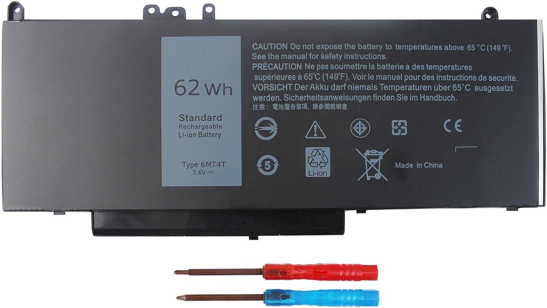 E5470 6MT4T 62WH Battery for Dell Latitude E5470 E5570 5470 5570 Precision 3510 Series Notebook TXF9M WTG3T 7V69Y 07V69Y 79VRK 0C1P4 451-BBUN 451-BBUP 451-BBTW 7.2V