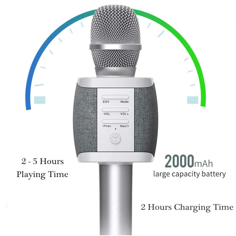 Tosing Top Birthday Gifts for Teens, Wireless Karaoke Microphone with Louder Speaker, 4 in 1 Bluetooth Handheld Karaoke Mic Machine for Singing, KTV Party Toys Presents for Kids Girls Teenagers Adults by TOSING (Image #5)