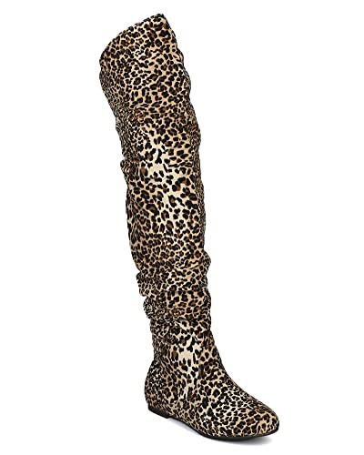 Amazon.com   Nature Breeze Vickie-HI Slouchy Thigh High Boot ...