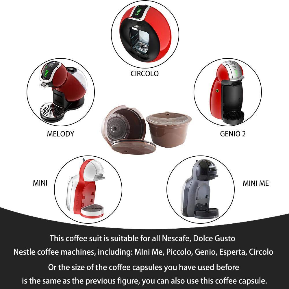 Hamkaw Cápsula de café Reutilizable, [Segunda generación] 6 Piezas ...