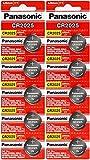 Panasonic CR2025-10 CR2025 3V Lithium Coin Battery (Pack of 10)