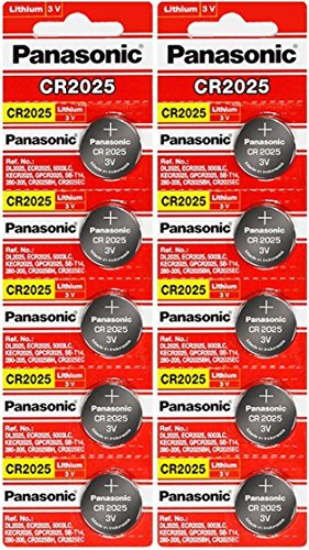 Cr2025 Lithium Cell - Panasonic CR2025-10 CR2025 3V Lithium Coin Battery (Pack of 10)