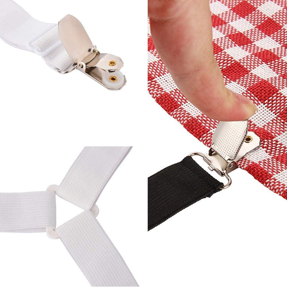 White Wendy Mall 4pcs//lot Triangle Bed Sheet Clips Bed Button Buckles Elastic Fasteners Grippers Holder Mattress Cover Blankets Straps Suspender
