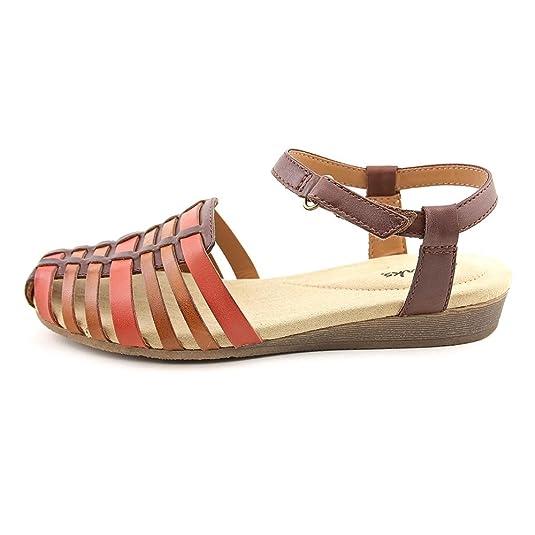 080665d5d74e Clarks Jaina Canary Q Sandal - Women s Brown Multi 9.5 B(M) US  Amazon.in   Shoes   Handbags