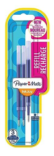 Paper Mate InkJoy Gel Pen Refills - Blue, Pack of 3