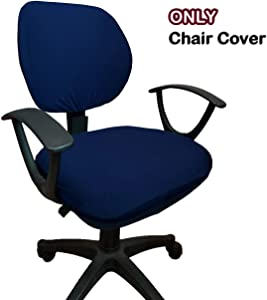 WOMACO Desk Chair Cover, Computer Office Chair Covers Removable Universal Chair Covers Stretch Rotating Chair Slipcover (Navy)