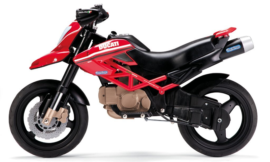 itsImagical Peg Perego MC0015 - Motos Ducati Hypermotard 1100 Evo, 12 Volt: Amazon.es: Juguetes y juegos