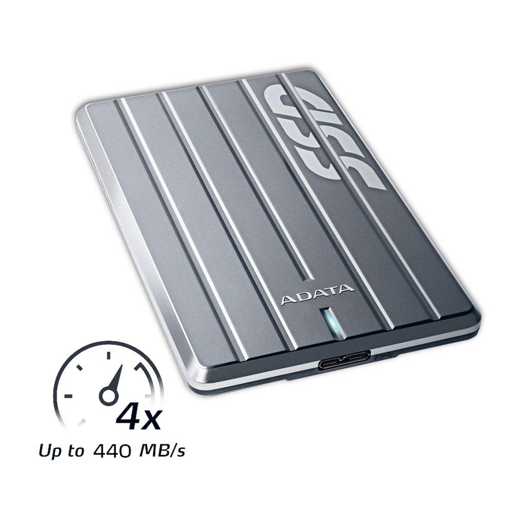 ADATA ASC660H-512GU3-CTI SC660H 512GB Ultra-Slim USB 3.1 External Solid State Drive by ADATA (Image #3)