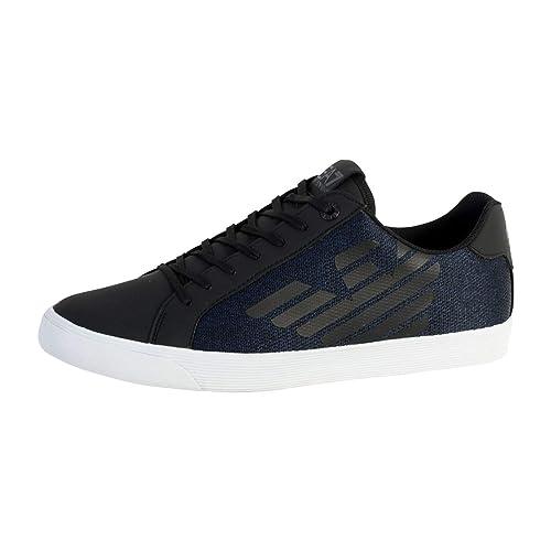 Emporio Armani - Zapatillas para Hombre Azul Azul/Negro: Amazon.es: Zapatos y complementos