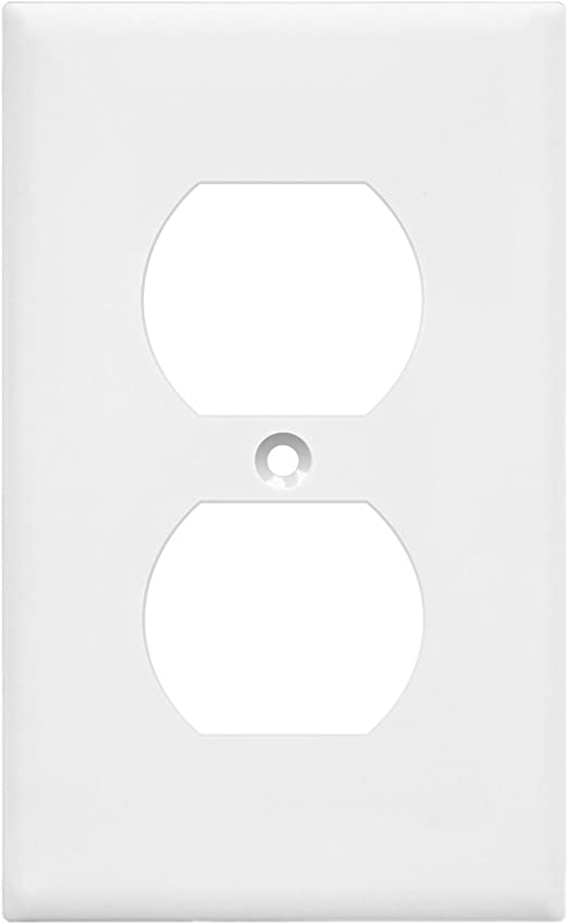 Single Toggle-3002T 3002 Cover Wall plate Rectangular White Porcelain Decorative Switch plate