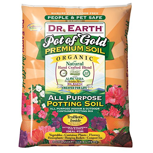 Dr. Earth 749688008136 813 Gold Premium Potting Soil, 8 Quart, N