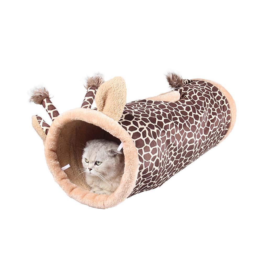 Giraffe Collapsible Pet Cat Tunnel Nest Play Toys Outdoor Indoor Pet Supplies for Dog, Kitten,Rabbit,Small Animal,Giraffe