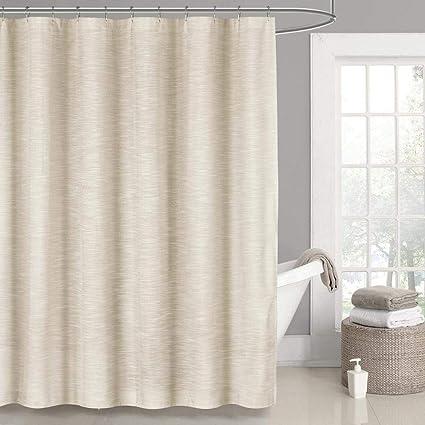 Amazon Home Maison Lynwood Metallic Fabric Shower Curtain Liner