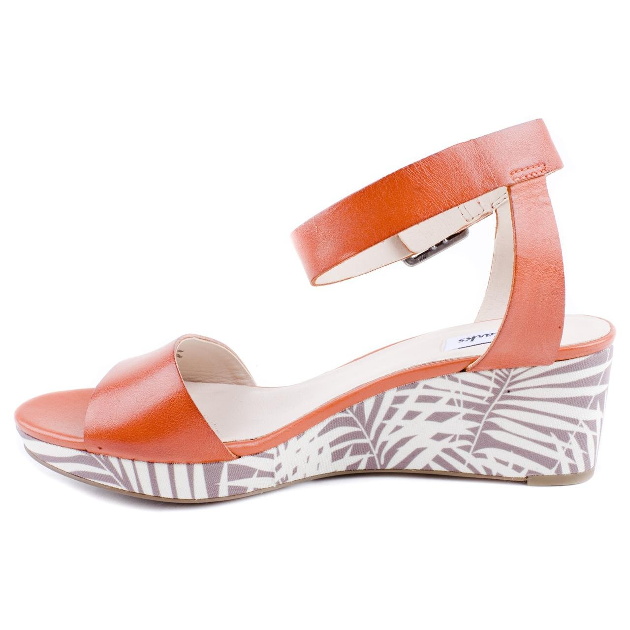 d1a27f85a Ladies Clarks Ornate Jewel Orange Wedge Sandals Size 8  Amazon.co.uk  Shoes    Bags