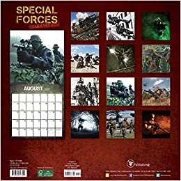 2017 special forces wall calendar tf publishing 9781624387340 books. Black Bedroom Furniture Sets. Home Design Ideas