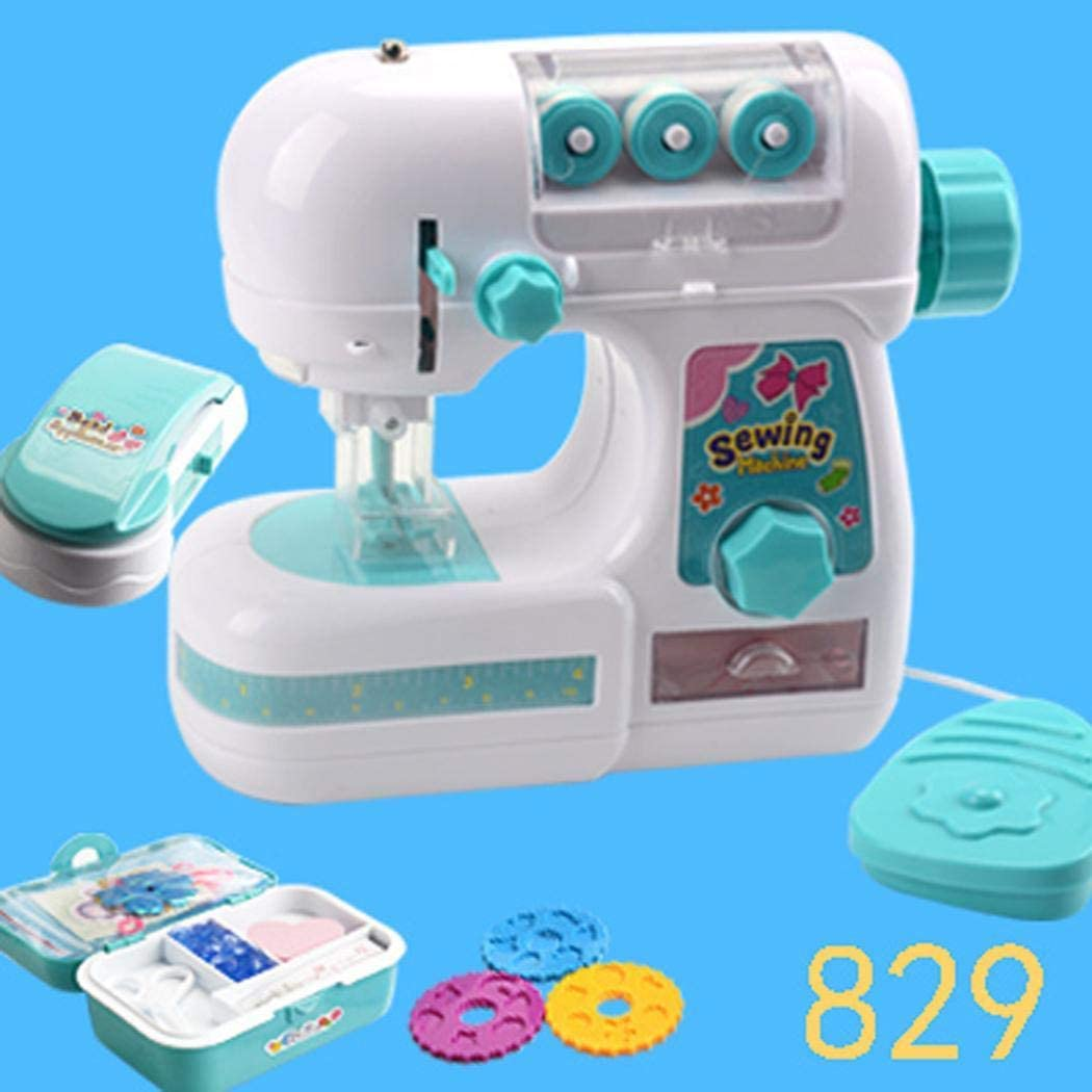 wumedy Electric Sewing Machine Toys Educational Interesting Toy for Kids Girls Children Industrial Sewing Machines