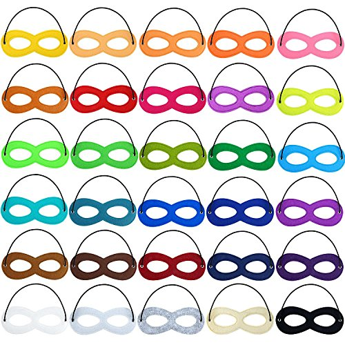 Superhero Masks Eye, Superhero Masks Cosplay Mask Half Masks Party Masks with Elastic Rope for Party, Multicolor(30pieces)]()