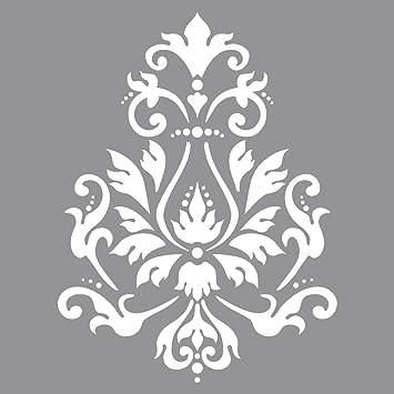 Decori Stencil Per Pareti.Rayher Stencil Per Pareti Motivo Broccato Stampo Per