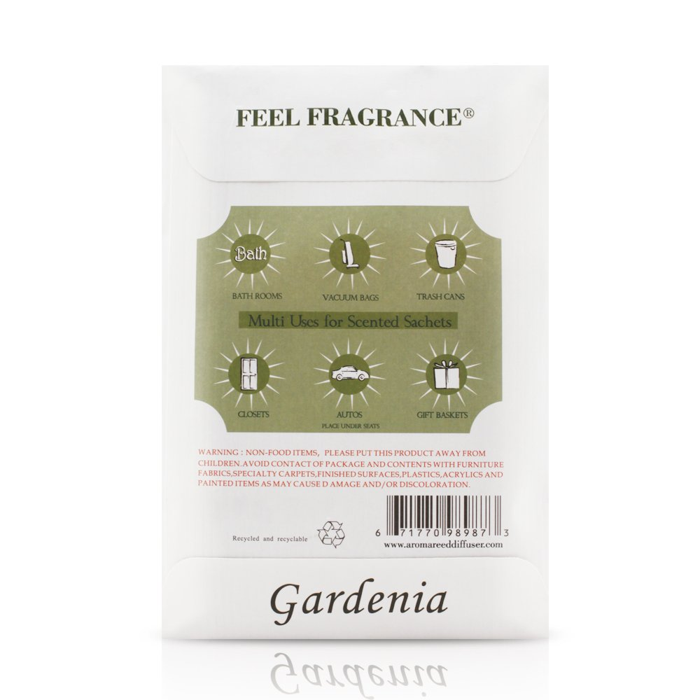Gardenia Feel Fragrance Scented Sachet for Drawers and Closets Sachet Bags Lot of 12