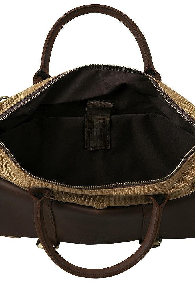 e2dabfacc380 ANNE KOKKE Fashion Canvas Genuine Leather Trim Travel Briefcase Laptop Bag