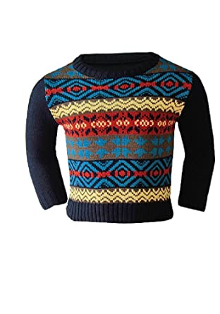 f8b57fcc573a Knot So Bad Boys Colourful Fair Isle Pattern Knitted Jumper  Ages 2-8 years  (6y