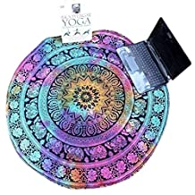 Vinjeely Round Multicolor Chiffon Beach Towel Home Shower Blanket Mandala Hippie Gypsy Boho Throw Towel Tablecloth Bedspread Table Cover Wall Hanging Decor Beach Pool Bohemian Towel Throw Rug Tapestry Yoga Mat Perfect To Take Along To Outdoor Picnic & Beach 59''