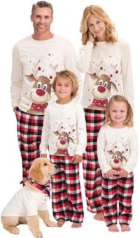 Inmindboom Conjuntos de Pijamas Familiares navideños a Juego ...