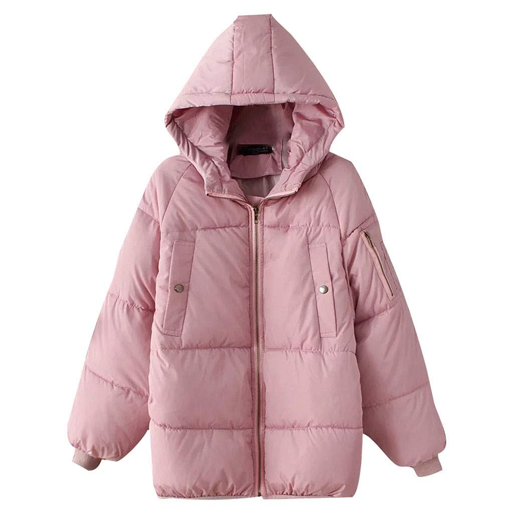 Wenini Unisex Casual Long Coat Korean Thick Loose Hooded Coat Winter Jacket Cotton Clothes Overcoat Outercoat by Wenini Women Coat