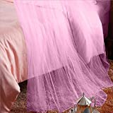 Round Hoop Double Lace Princess Mosquito Net Bed