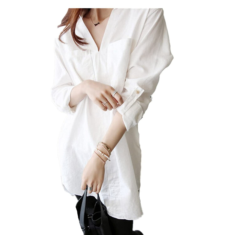 LOBTY Neu Blusekleider Damen Spring Long Sleeve Blusen Weiß Oberteile Viele Größe S-5XL Tops damen Tunika damen elegantTunika damen sommer Tunika damen
