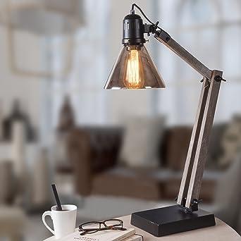 Abat Lampe Industriel Structure Conique Bois À Jour En Poser Style tdhQrCs