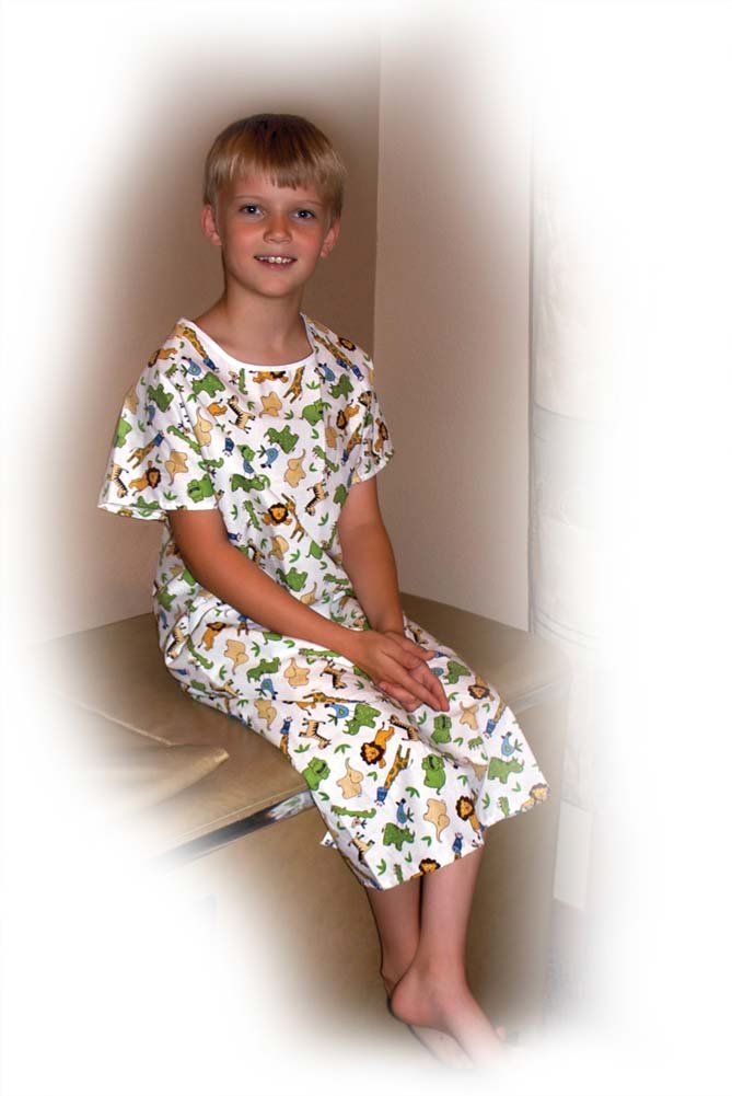 6 H Printed Gown Youth Adaptive Clothing Size