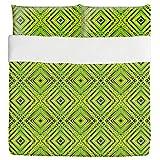 Squared Freshness Duvet Bed Set 3 Piece Set Duvet Cover - 2 Pillow Shams - Luxury Microfiber, Soft, Breathable
