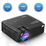 ManyBox Mini proyector, 3500 Lux proyector de vídeo portátil con 45000 Horas de Vida de lámpara LED, Full HD 1080P...