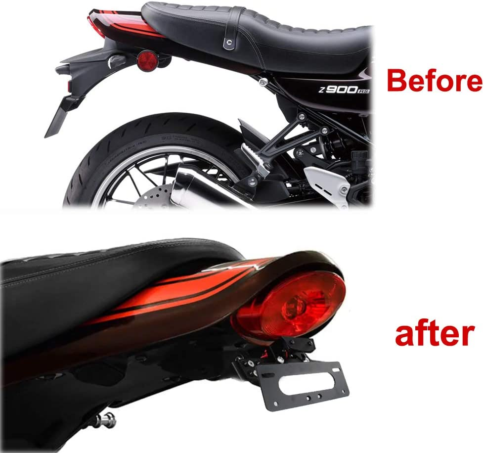 Compatible with OEM//Stock and Aftermarket Turn Signal Tail Tidy for KAWASAKI Z900RS 2018 2019 2020 for OEM License Plate Light Xitomer Z900RS Rear Fender Eliminator Kits
