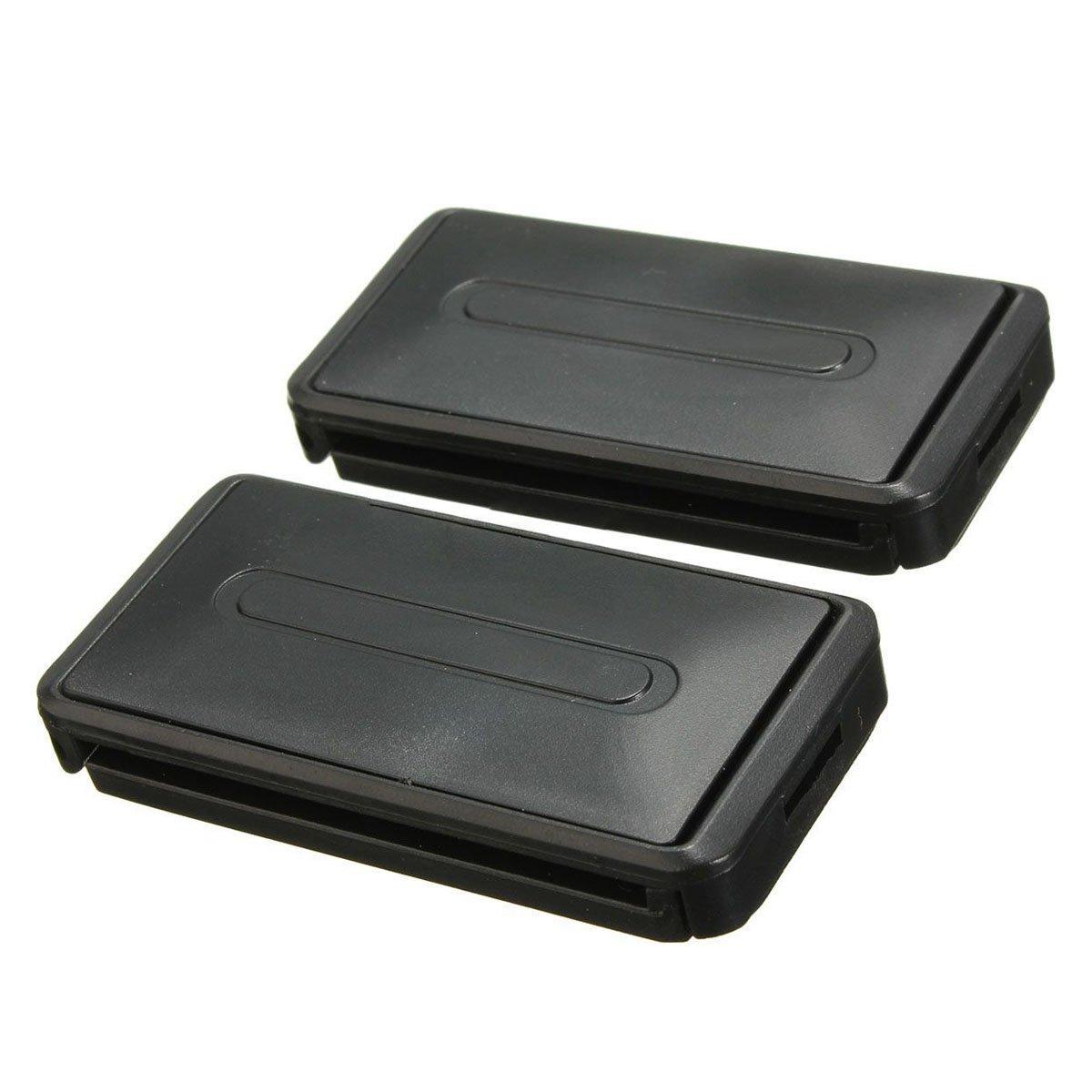 SODIAL(R) 2 x Clips de ceinture de securite pour siege de voiture ajusteur ameliorer boucle d'extension noir 058931